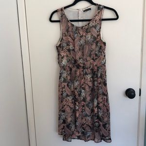High Low Dress Paisley and Floral